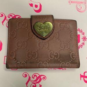 Gucci Dark Pink Mini Leather Wallet